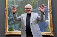 Hasso Plattner with a Monet, via The Guardian