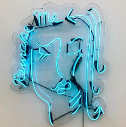 Mira Dancy, Remake Me (Clear Blue V4), (2016), via Art Observed