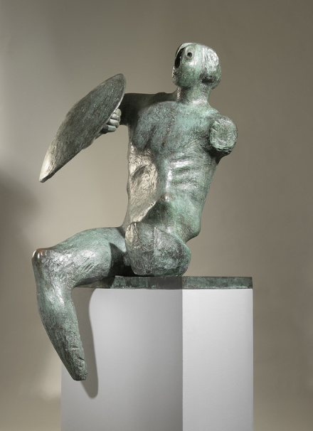 Henry Moore, Warrior with Shield (1953—1954)