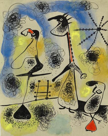 Joan Miro, L'échelle de l'évasion et l'étoile de l'espoir (1926), via Gorvy Lévy