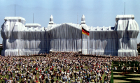 Wrapped Reichstag, via The Guardian