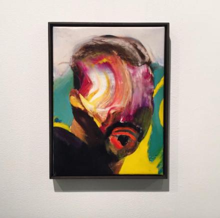 Adrian Ghenie, Self-Portrait (2016), via Art Observed