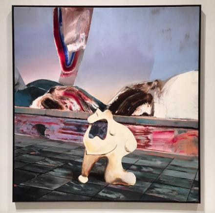 Adrian Ghenie, Moloch (2016), via Art Observed