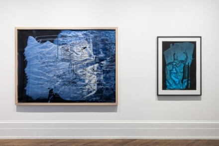 Sigmar Polke, Pour Paintings on Paper (Installation View), via Michael Werner