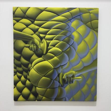 Sascha Braunig, Warm Leatherette (2015), via Art Observed