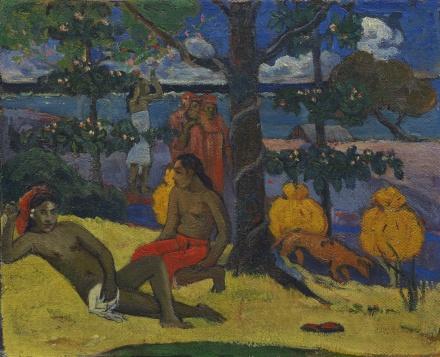 Paul Gauguin, Te Arii Vahine - La Femme Aux Mangos (II) (1896), via Sotheby's