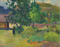 Paul Gauguin, Te Fare (La maison) (1892), via Christie's