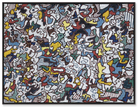Jean Dubuffet, Être et paraître (To Be and to Seem) (1963), via Christie's