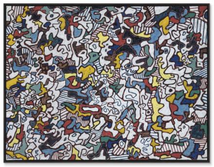 Jean Dubuffet, Être et paraître (To Be and to Seem) (1963), via Christie's
