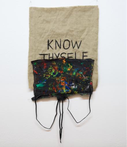 B. Wurtz, Untitled (Know Thyself) (2015), via Lulu Gallery