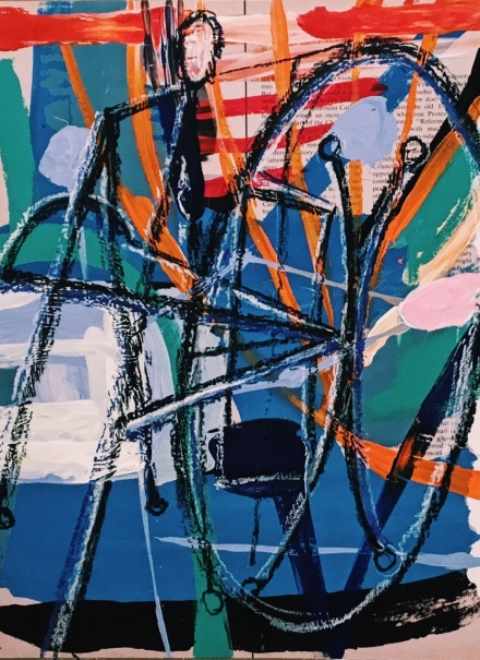 David Salle, Exhibition View, 2016, via Art Observed