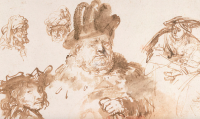 Rembrandt Drawing, via The Guardian