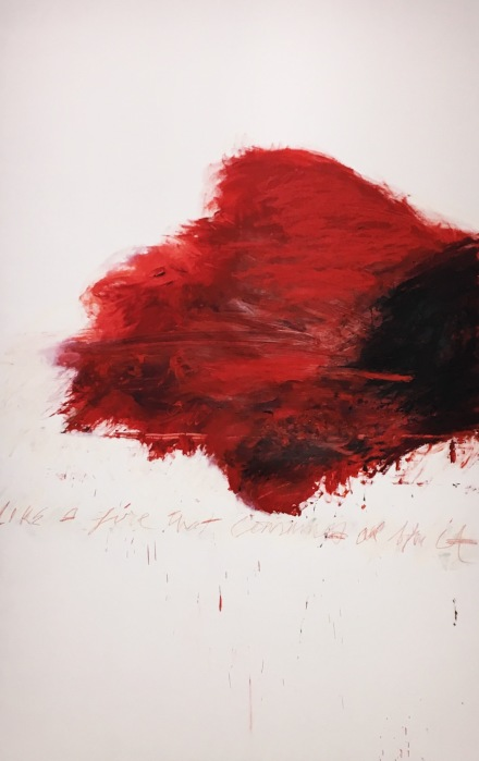 Cy Twombly, Exhibition View, via Art Observed