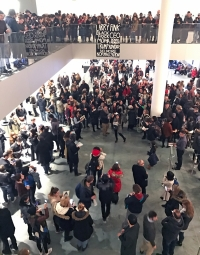 MoMA Protests, via Hyperallergic
