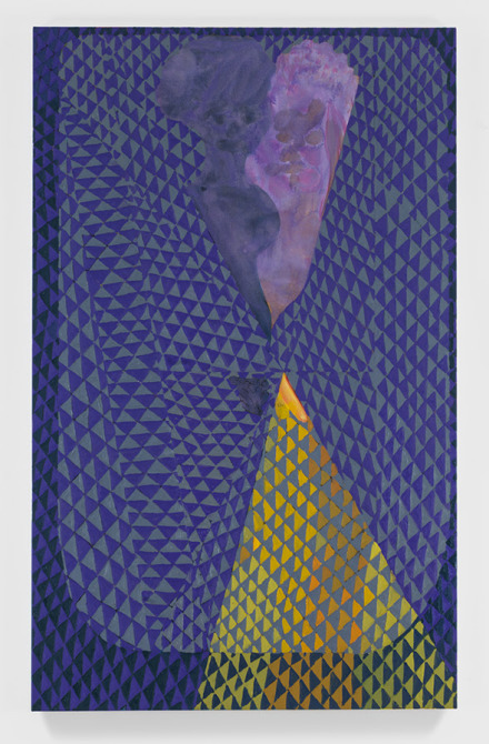 Chris Ofili, Triangle Couple in Bed (2016), via David Zwirner