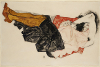 Egon Schiele, Woman Hiding Her Face, via Art Observed