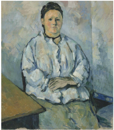 Paul Cezanne, Femme assise (1879), via Christies