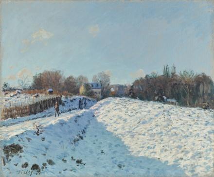 Alfred Sisley, Effet De Neige À Louveciennes (1874), via Sotheby's