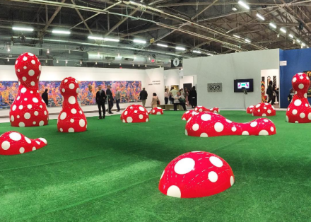Yayoi Kusama's Platform Installation, via Art Observed
