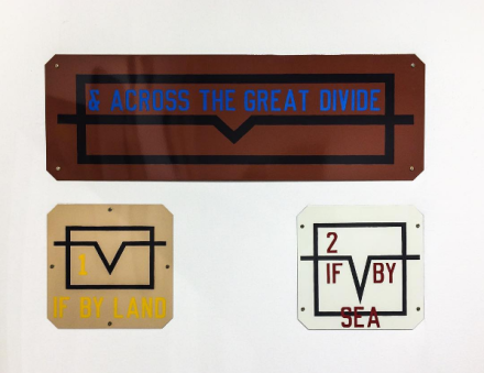 Lawrence Weiner at Brooke Alexander Gallery, via Art Observed