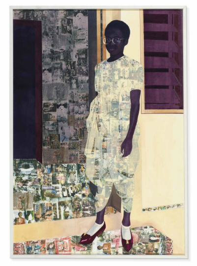 Njideka Akunyili Crosby, The Beautyful Ones (2012), via Christie's