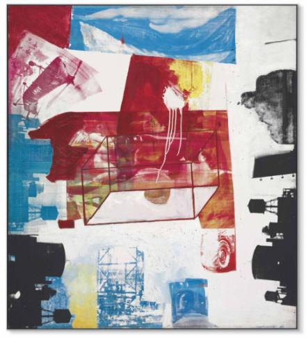 Robert Rauschenberg, Transom (1963), via Christie's