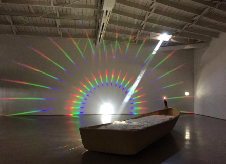 Terence Koh, Sleeping in a beam of sunlight (Installation View), via Art Observed