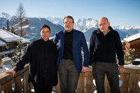 Beatrix Ruff, Prince Constantijn and Rem Koolhaas, via NYT