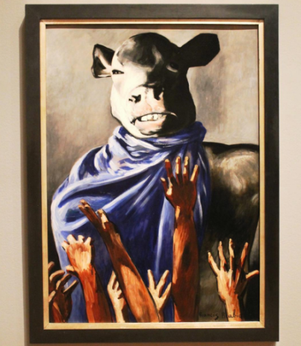 Francis Picabia, The Adoration of the Calf (1941-42), via Art Observed