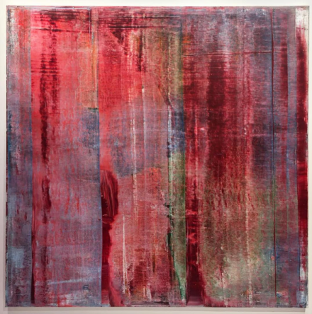 Gerhard Richter at Gagosian Gallery, via Vivienne Shi for Art Observed