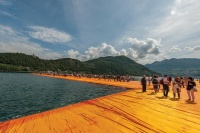Floating Piers in Italy, via Art Newspaper