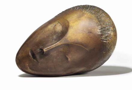 Constantin Brancusi, La muse endormie (1913), via Christies