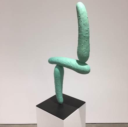 Erwin Wurm, Modernist Pickle (2016), via Art Observed