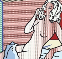 Roy Lichtenstein, Nude Sunbather, via Sotheby's