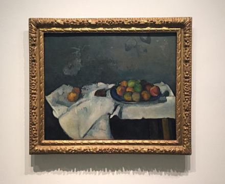 Paul Cezanne, Still Life Plate of Peaches (1879-80), via Art Observed