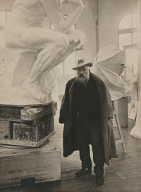 Rodin in the studio, via NYT