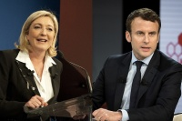 Le Pen and Macron, via Art Newspaper