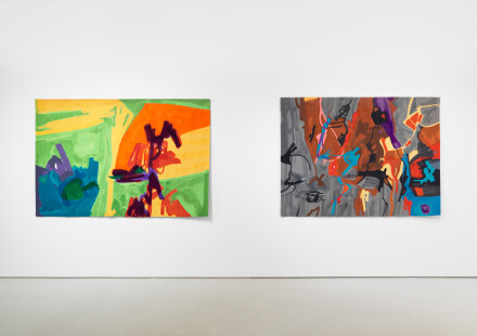 Installation view of Etel Adnan| Gerhard Richter at THE FLAG Art Foundation, 2017. Photography by Object Studies
