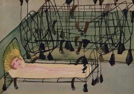 Carol Rama, Appassionata [Passionate], (1940), via New Museum
