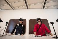 Jordan Wolfson at Whitney Biennial, via NYT