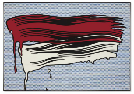 Roy Lichtenstein, Red and White Brushstrokes (1965), via Christies