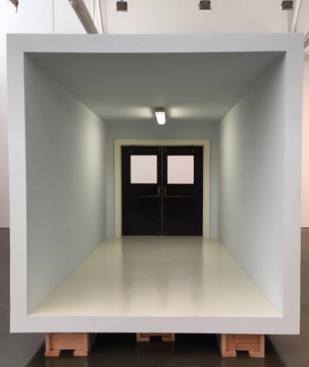 Robert Therrien, No title (room, panic doors) (2013-14), via Art Observed