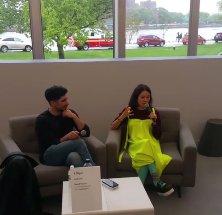 David Velasco and Anicka Yi in conversation, via Art Observed