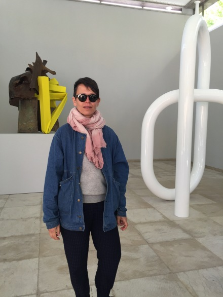 Carol Bove with her Installations at the Swiss Pavilion, via Art Observed