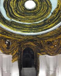 Mark Bradford, Saturn Returns (2013-2017), via Art Observed