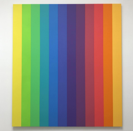 Ellsworth Kelly, Spectrum IX (2014), via Art Observed