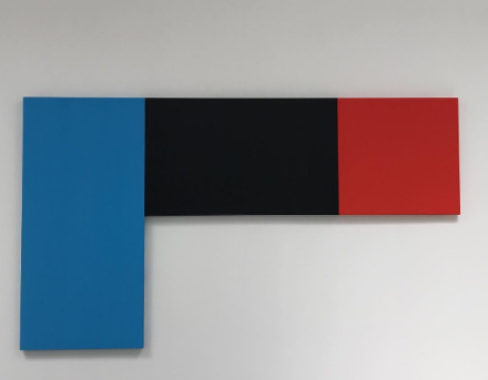 Ellsworth Kelly, Blue Black Red (2015), via Art Observed