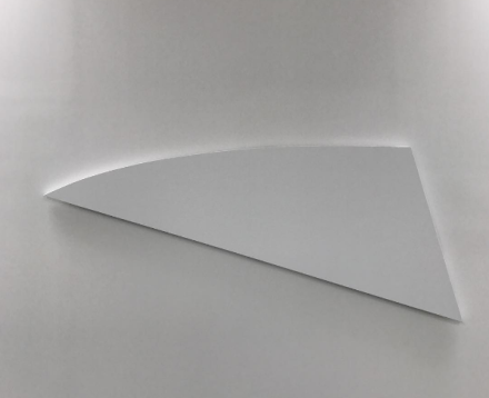 Ellsworth Kelly, White Diagonal Curve (2015), via Art Observed