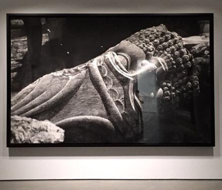 Robert Longo, Untitled (Destroyed Head of Lamassu, Nineveh (2016), via Art Observed