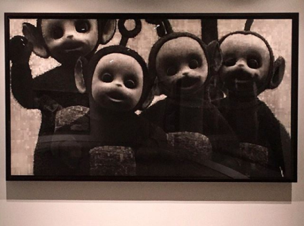 Robert Longo, Untitled (Teletubbies) (2016), via Art Observed